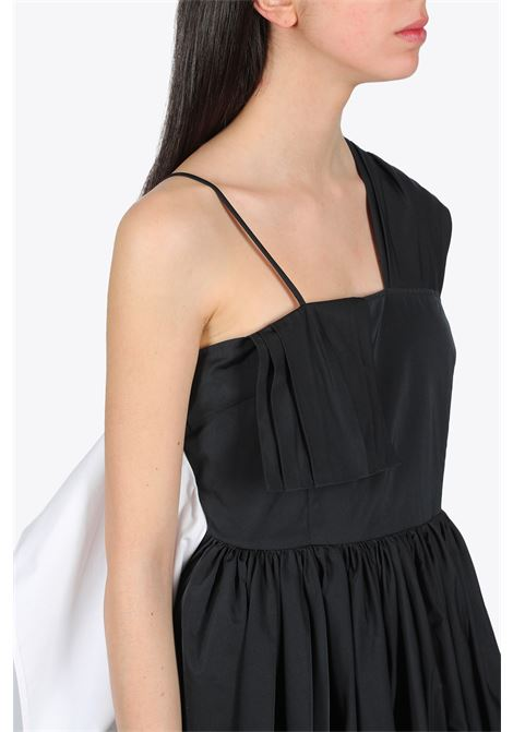 TAFFETA MIDI DRESS MM6 MAISON MARGIELA | 11 | S32CU0114 S52741BLACK