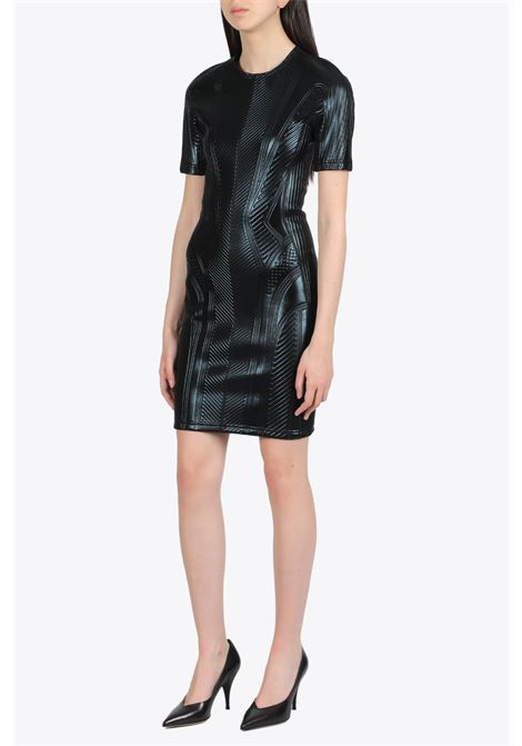Embossed mini dress