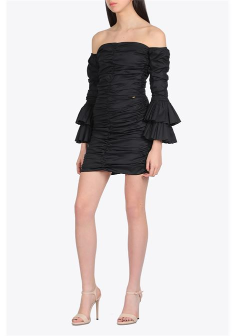 DRAPED SHORT DRESS NEVERBETHESAME | 11 | 581BLACK