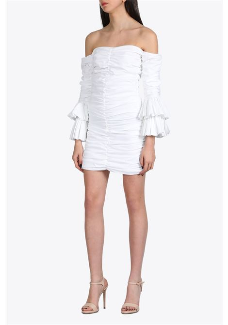 DRAPED SHORT DRESS NEVERBETHESAME | 11 | 581WHITE