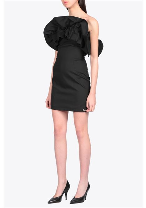 sheath dress with ruffle NEVERBETHESAME | 11 | 594BLACK