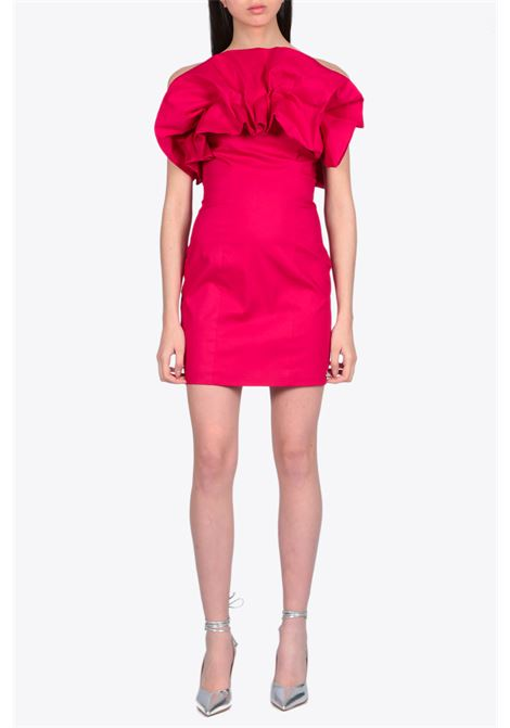 sheath dress with ruffle NEVERBETHESAME | 11 | 594FUXIA