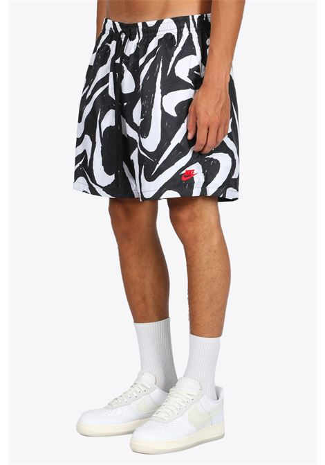 logo pattern shorts NIKE | 30 | CT0811-010 SHORTSBLACK/WHITE
