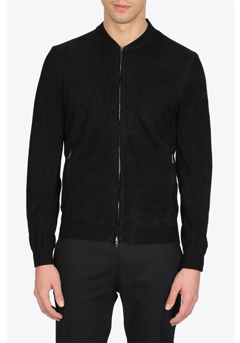 BOMBER IN SUEDE SALVATORE SANTORO | -276790253 | 38522BLACK