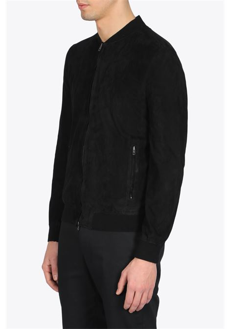SUEDE BOMBER JACKET SALVATORE SANTORO | -276790253 | 38522BLACK