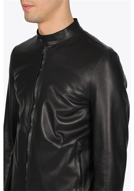 NAPPA LEATHER BIKER JACKET SALVATORE SANTORO | -276790253 | 38527BLACK