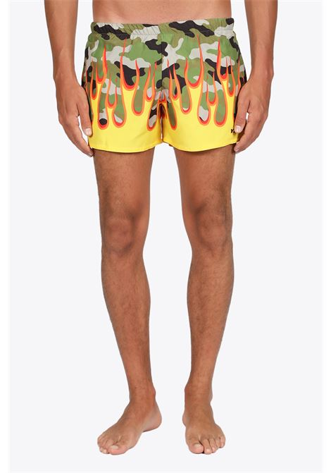 CAMOUFLAGE ON FIRE SWIM SHORT YES I AM | 85 | CAMOUFLAGE ON FIRECAMOUFLAGE