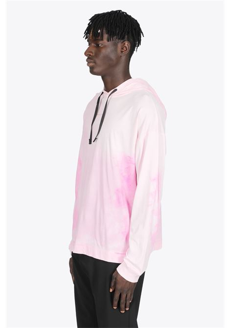 PINK TIE-DYE COTTON HOODED T-SHIRT WITH LONG SLEEVES 1017 ALYX 9SM | 8 | AAMTS0239FA01 TREATED HOODED T-SHIRT06