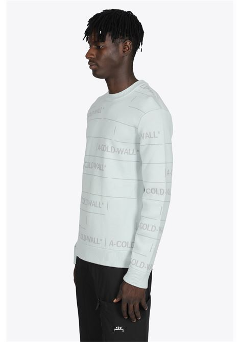 ICE-GREY WOOL JUMPER WITH JACQUARD PATTERN LOGO A COLD WALL | -1384759495 | ACWMK031 CHAIN JACQUARD KNITICEGREY