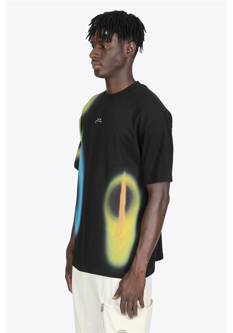 HYPERGRAPHIC T-SHIRT IN COTONE NERA CON STAMPA MULTICOLOR A COLD WALL | 8 | ACWMTS048 HYPERGRAPHIC SS T-SHIRTBLACK