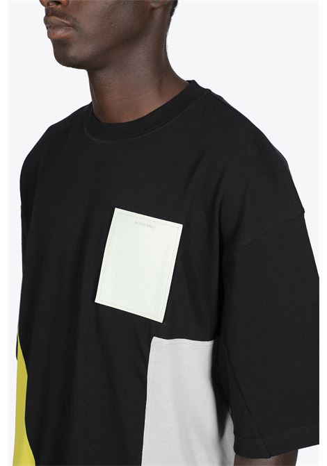 T-SHIRT NERA IN COTONE CON PANNELLI MULTICOLOR A COLD WALL | 8 | ACWMTS051B CONTRAST PANEL SS T-SHIRTBLACK
