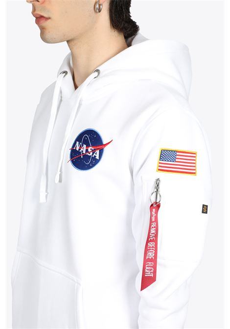 WHITE COTTON SPACE SHUTTLE HOODY ALPHA INDUSTRIES | -108764232 | 178317 SPACE SHUTTLE HOODY09