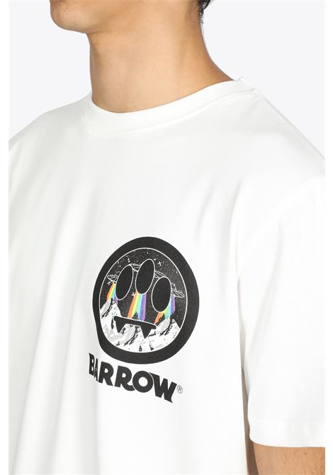 T-SHIRT IN COTONE PANNA CON SMILE BARROW | 8 | 029922 JERSEY T-SHIRT002