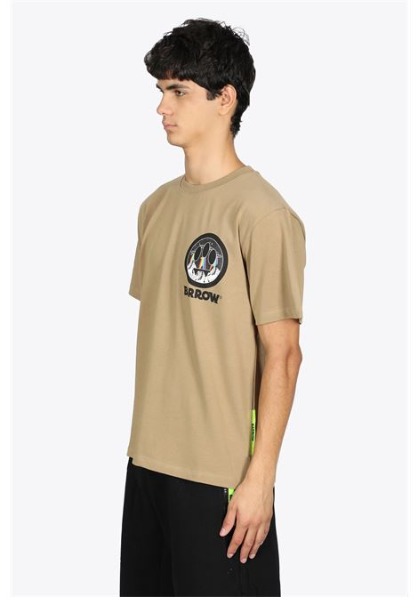 BEIGE COTTON TEE WITH SMILE PRINT BARROW | 8 | 029922 JERSEY T-SHIRT094