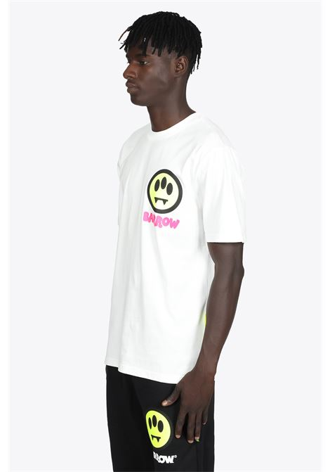 WHITE COTTON T-SHIRT WITH BACK PRINTS BARROW | 8 | 029926 JERSEY T-SHIRT002
