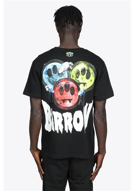 BLACK COTTON T-SHIRT WITH MULTICOLOR SMILE BACK PRINT BARROW | 8 | 029931 JERSEY T-SHIRT110