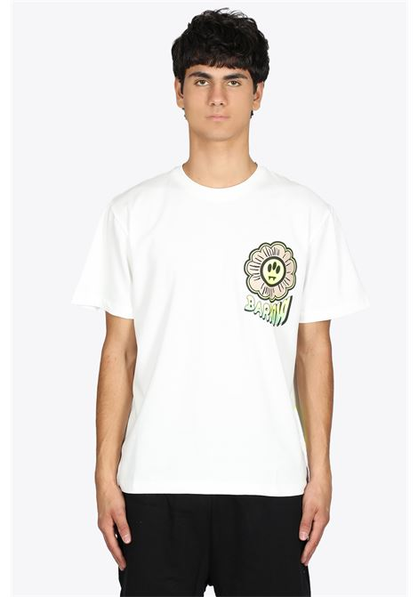 OFF-WHITE COTTON TEE WITH FLOWER PRINT BARROW | 8 | 029934 JERSEY T-SHIRT002