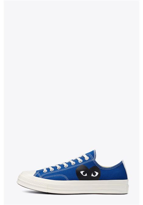 ROYAL BLUE CANVAS SNEAKERS CONVERSE X COMME DES GARCONS PLAY COMME DES GARCONS PLAY | 10000039 | P1K12102