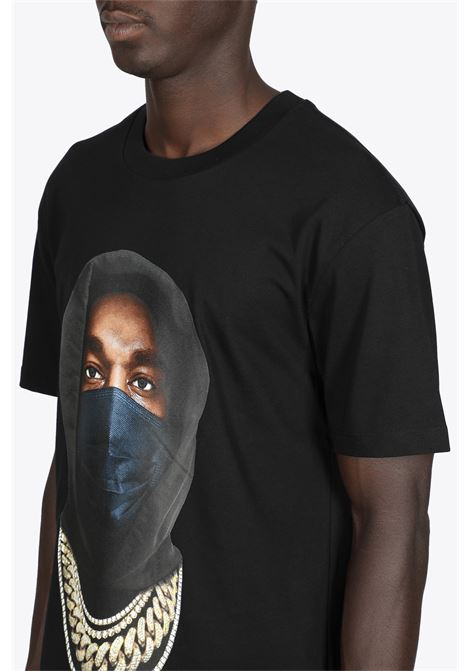 T-SHIRT NERA IN COTONE CON STAMPA MASK IH NOM UH NIT | 8 | NUW21251 T-SHIRT MASK ON 21009