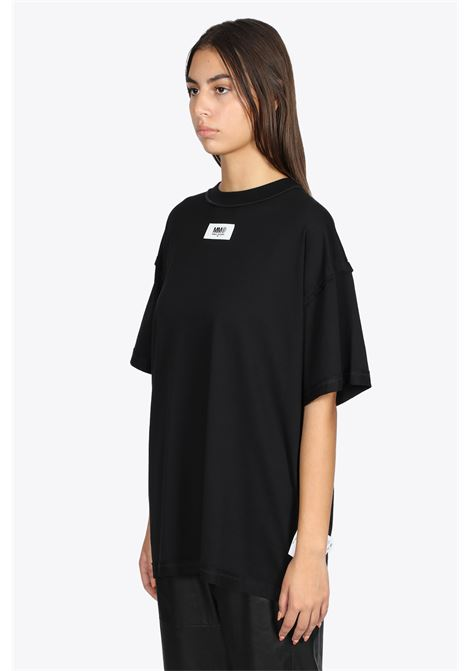 BLACK TEE WITH FRONT LABEL MM6 MAISON MARGIELA | 8 | S62GD0089 S23955900