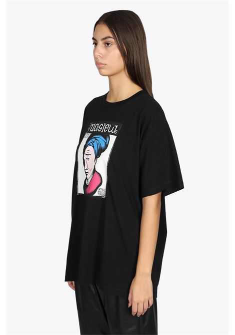 BLACK TEE WITH GRAPHIC PRINT MM6 MAISON MARGIELA | 8 | S62GD0093 S23962900