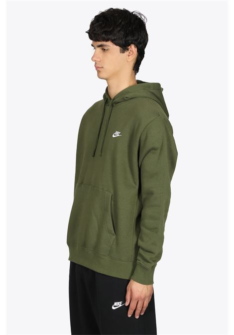 MILITARY GREEN COTTON HOODIE WITH LOGO NIKE | -108764232 | BV2654327