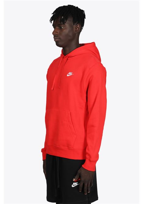 RED COTTON HOODIE WITH LOGO NIKE | -108764232 | BV2654657