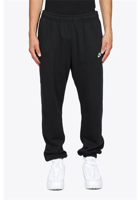 BLACK COTTON SWEATPANTS WITH LOGO EMBROIDERY NIKE | 9 | BV2737010