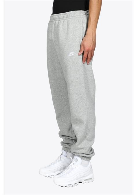 GREY COTTON SWEATPANTS WITH LOGO EMBROIDERY NIKE | 9 | BV2737063
