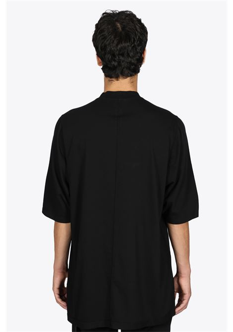 T-SHIRT OVERSIZE IN COTONE NERO CON RICAMO RICK OWENS-DRKSHDW | 8 | DU02A3274 RNEP5 JUMBO SS T0961