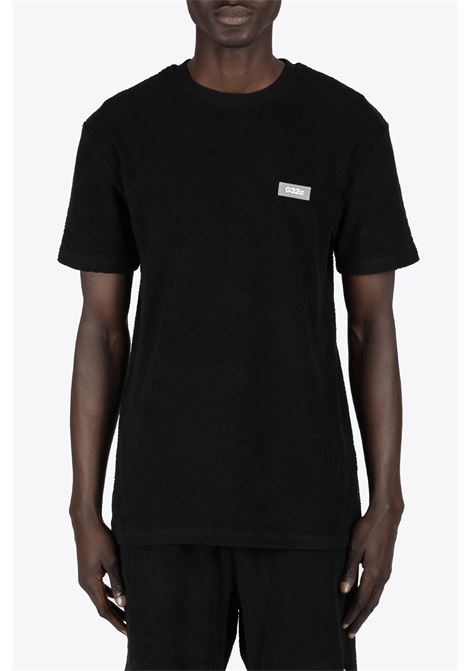 TOPOS SHAVED TERRY T-SHIRT 032C | 8 | SS21-C-1010 TOPOS SHAVED TERRY T-SHIRTBLACK