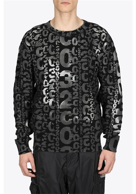 ALLOVER LOGO PRINTED PULLOVER HEAT SENSITIVE 032C | -1384759495 | SS21-K-1030 ALLOVER 032C LOGO PRINTED PUBLACK
