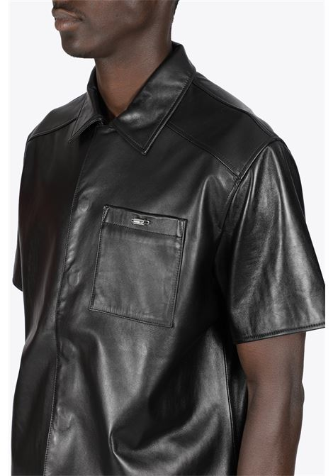 LEATHER SHORTSLEEVE SHIRT 032C | 6 | SS21-W-0030 LEATHER SHORTSLEEVEBLACK