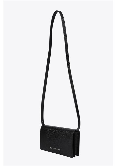 CLUTHC IN PELLE NERA STAMPA STRUZZO 1017 ALYX 9SM | 31 | AAWCT0003LE01 GIULIA CLUTCH WITH LEATHERBLACK