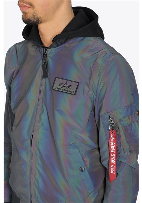 ma-1 lw hd rainbow reflective ALPHA INDUSTRIES | -276790253 | 116107RR MA-1 LW HD RAINBOW REFLECTIVE572