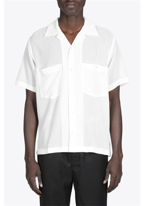SS CAMP COLLAR SHIRT CMMN SWDN | 6 | M16W639 SS CAMP COLLAR SHIRTWHITE