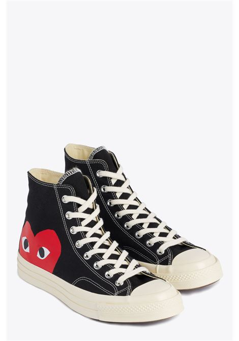 big heart hi top COMME DES GARCONS PLAY | 10000039 | P1K112BLACK