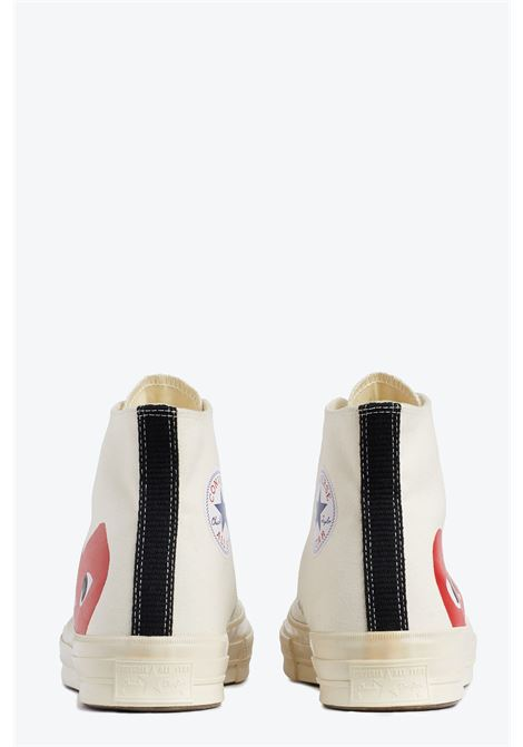 big heart hi top COMME DES GARCONS PLAY | 10000039 | P1K112WHITE