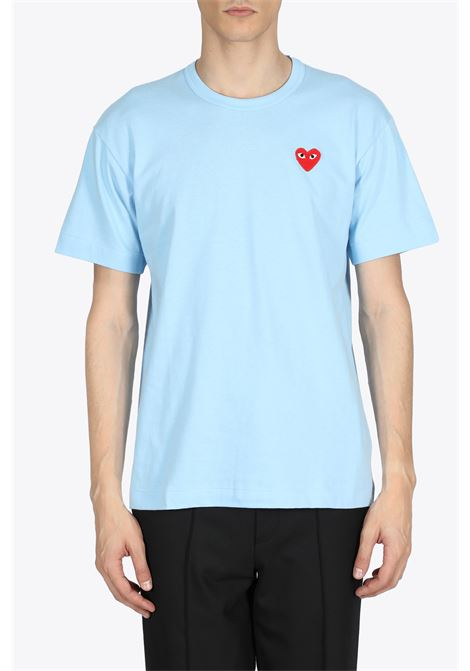 RED HEART PATCH TEE COMME DES GARCONS PLAY | 8 | P1T272BLUE