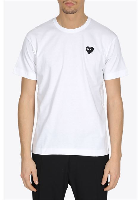 BLACK HEART PATCH TEE COMME DES GARCONS PLAY | 8 | P1T064WHITE