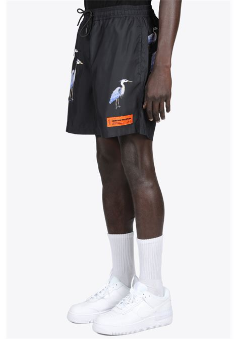 NYLON PRINTED SHORTS HERON PRESTON | 30 | HMFA005R21FAB001 NYLON PRINTED SHORTS1040
