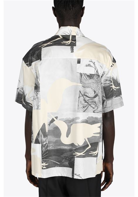 HP CUT OUT BOWLING SHIRT HERON PRESTON | 6 | HMGA027S21FAB002 HP CUT OUT BOWLING SHIR1001