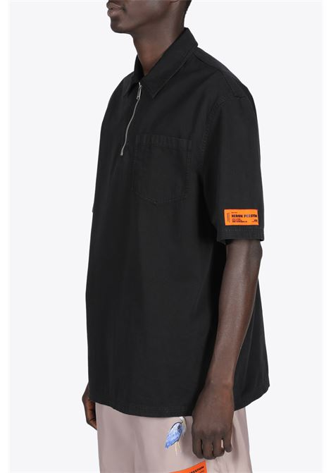 HERON SPRAY HALF ZIP SHIRT HERON PRESTON | 6 | HMGA032S21FAB002 HERON SPRAY HALF ZIP SH1001