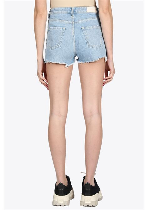 FRINGED HEM DENIM SHORTS ICON DENIM | 30 | SELEID202