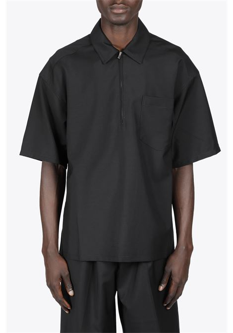 POLO ZIP SHIRT LOWNN | 6 | POLO ZIP SHIRTBLACK