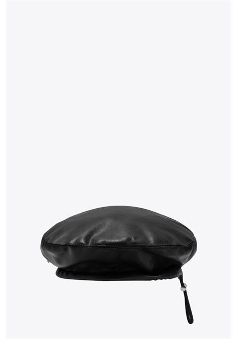 VEGAN LEATHER BERET MISBHV | 26 | 021A052 VEGAN LEATHER BERETBLACK