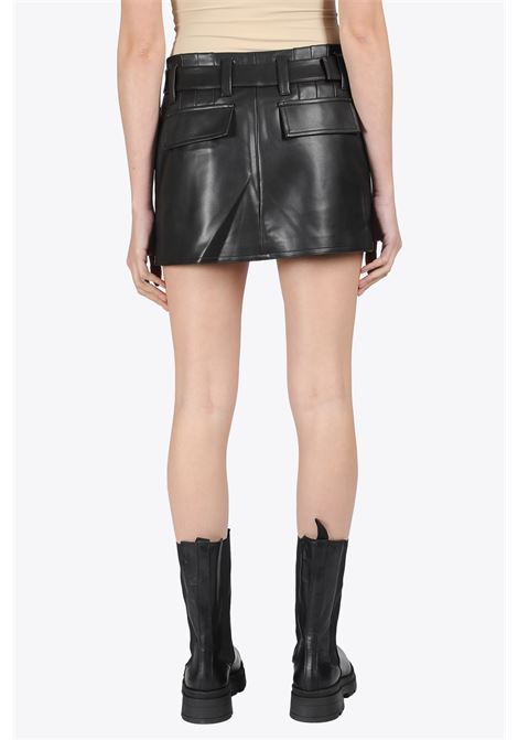 VEGAN LEATHER 90S SKIRT MISBHV | 15 | 021W158 VEGAN LEATHER 90S SKIRTBLACK