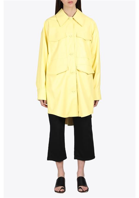 OVERSIZED ECO-LEATHER OVERSHIRT MM6 MAISON MARGIELA | 3 | S52AM0153 S53057170