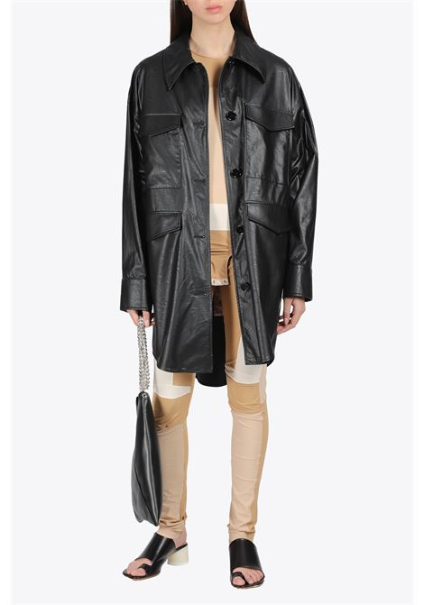 OVERSIZED ECO-LEATHER OVERSHIRT MM6 MAISON MARGIELA | 3 | S52AM0153 S53057900
