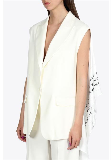 SCARF SLEEVELESS BLAZER MM6 MAISON MARGIELA | 38 | S62FB0029 STZ005962